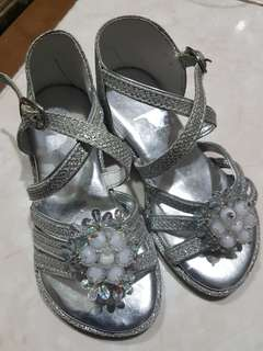 Toddler's Silver Sandals