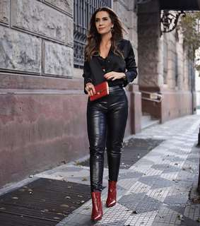 Ana Povoa red boots