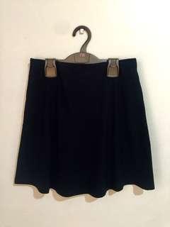 Terranova Black Cloth Skater Skirt