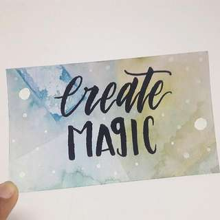 Create Magic Watercolour Calligraphy