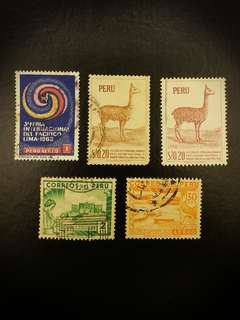 Peru Stamps (Set of 5)