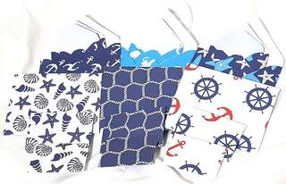 9 pcs Handmade Mini Envelopes (Nautical)