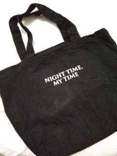 Totebag Night Time my Time