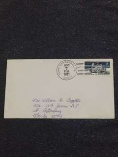 US 1971 Apollo 15 Splashdown Cape Canaveral Space Cover stamp