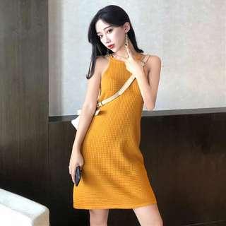 summer Korea round neck sleeveless dress