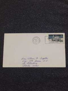 US 1971 Apollo 15 Splashdown Kennedy Space Center Space Cover stamp