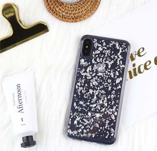 Iphone 6plus 金箔銀色電話殼