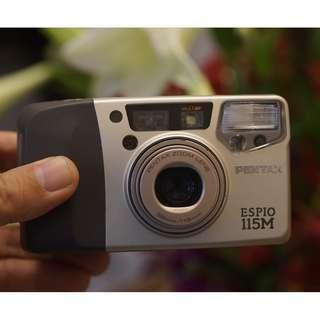 Pentax Espio 115M 輕巧 經典傻瓜相機  附CR2電池 9成新