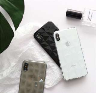 Iphone 6plus菱格透明殼