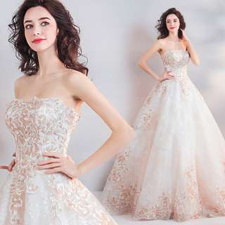 pre order white prom bridesmaid wedding bridal gown dress  RB0681