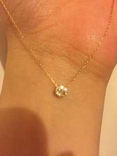 18k金鑽石項鍊 鑽石10份