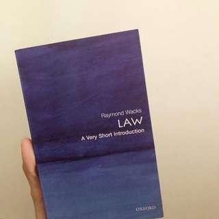 Raymond Wacks Law A Very Short Intoduction