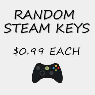 [High Quality] RANDOM STEAM CD-KEYS $0.99 EACH