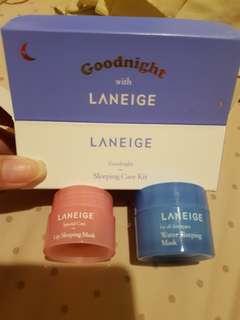 Laneige sleeping care kit