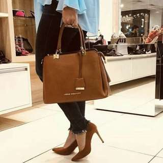 Camel Brown heels shoes