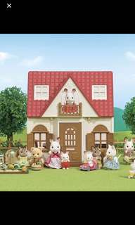 Brand new Sylvanian Families Red Cozy Roof House & Sweets Store