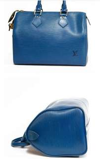 LV blue bag