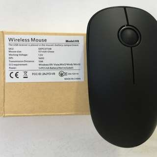 764. Wireless Mouse(Battery Included), MODEL: V8 Slim Silent Travel Cordless Mouse ,Whisper Quiet Mouse Compact Soundless Mice