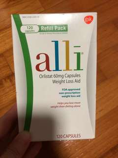 Alli Weight Loss Slimming Aid Orlistat 60mg Capsules120ct Refill Pack