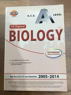 H2 A Level Biology Topical TYS (2005-2014)