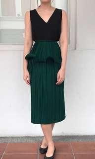 BNWT Innit Midi Emerald Skirt Authentic