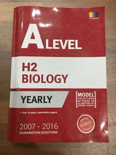 H2 A Level Biology Yearly TYS (2007-2016)