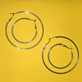 Set of Silver Hoops