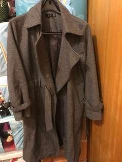 🚚 灰色長版外套 適合L或XL