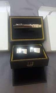 Dunhill 袖口鈕及呔夾。意大利製造。brand new !