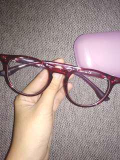 Levis Eyewear Maroon Transparan+Free Box
