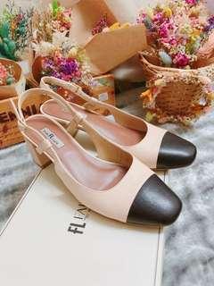 🚚 Fair Lady類Chanel專櫃真皮跟鞋 香奈兒款 穿一次