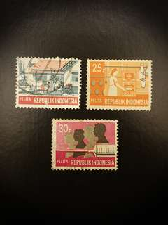 Indonesia Stamps (Set of 3)