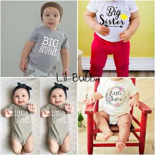 [Ready Stock] Big Brother/ Big Sister/ Little Brother/ Little Sister Tee/Romper