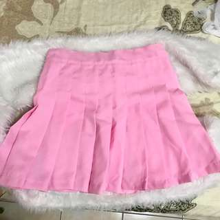 Pleated skirt baby pink