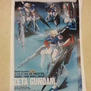 手辦模型 - 1:100 滕田版 Z Gundam (可動版) - 高達 首辦 ZZ Workshop 白件
