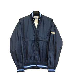 🚚 Vintage 古著Champion深藍色薄款外套(平量尺寸cm)