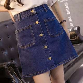 PRELOVED Jeans Skirt
