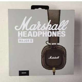 英國 Marshall Major II 耳機 (黑色/棕色/咖啡) 有線耳機/內建麥克風 耳罩式