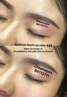 Eyebrow embroidery touch up color on session $88