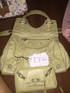 Balenciaga brief bag and wallet