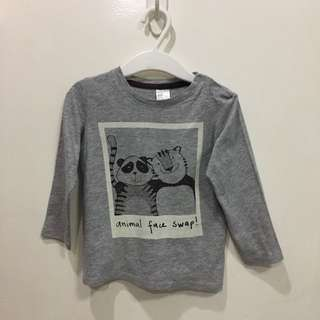 Gray longsleeve (animal print)