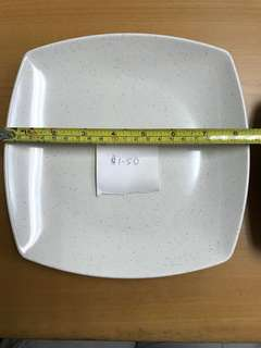 Hoover Melamine Plates and Bowl