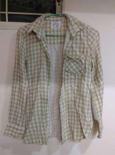 🚚 蘋果綠長袖棉上衣
