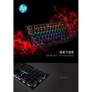 🚚 HP GK100 High Perfromance Mechanical Keyboard Blue Switch