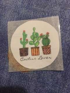 Cactus lover stickers