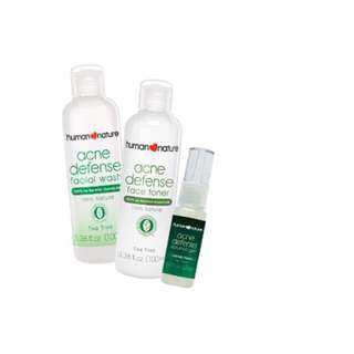 Acne Defense facial wash, toner n solution gel authentic