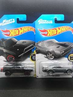 Hotwheels F&F Dodge Charger and Ice Charger Die-cast Set