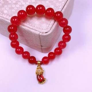 lucky red piyao (money capture)bracelet