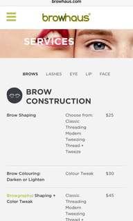 browhaus eyebrow threading