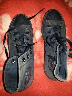 Converse allstars boots charcoal black